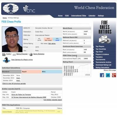 Captura de pantalla perfil Bernal Gonzalez