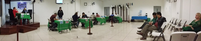 Vista panorámica de la Sala de Ajedrez en la ronda final.